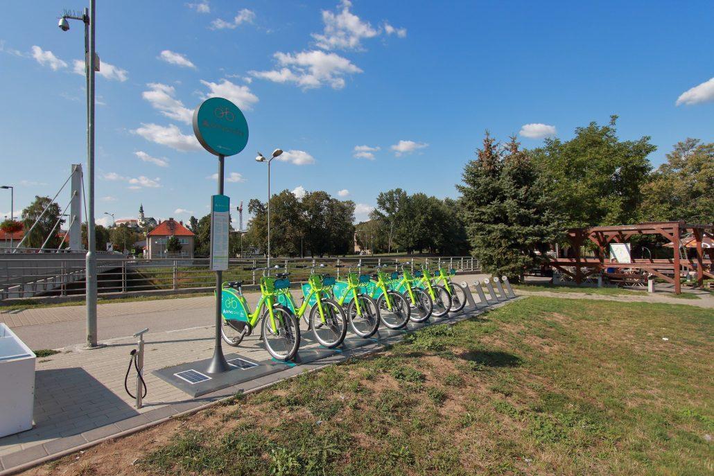 arriva bike stanovište č. 5306 - Chrenovský most v Nitre