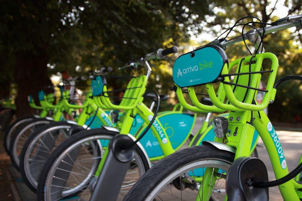 arriva bike stanovište č. 5305 - Mestský park v Nitre