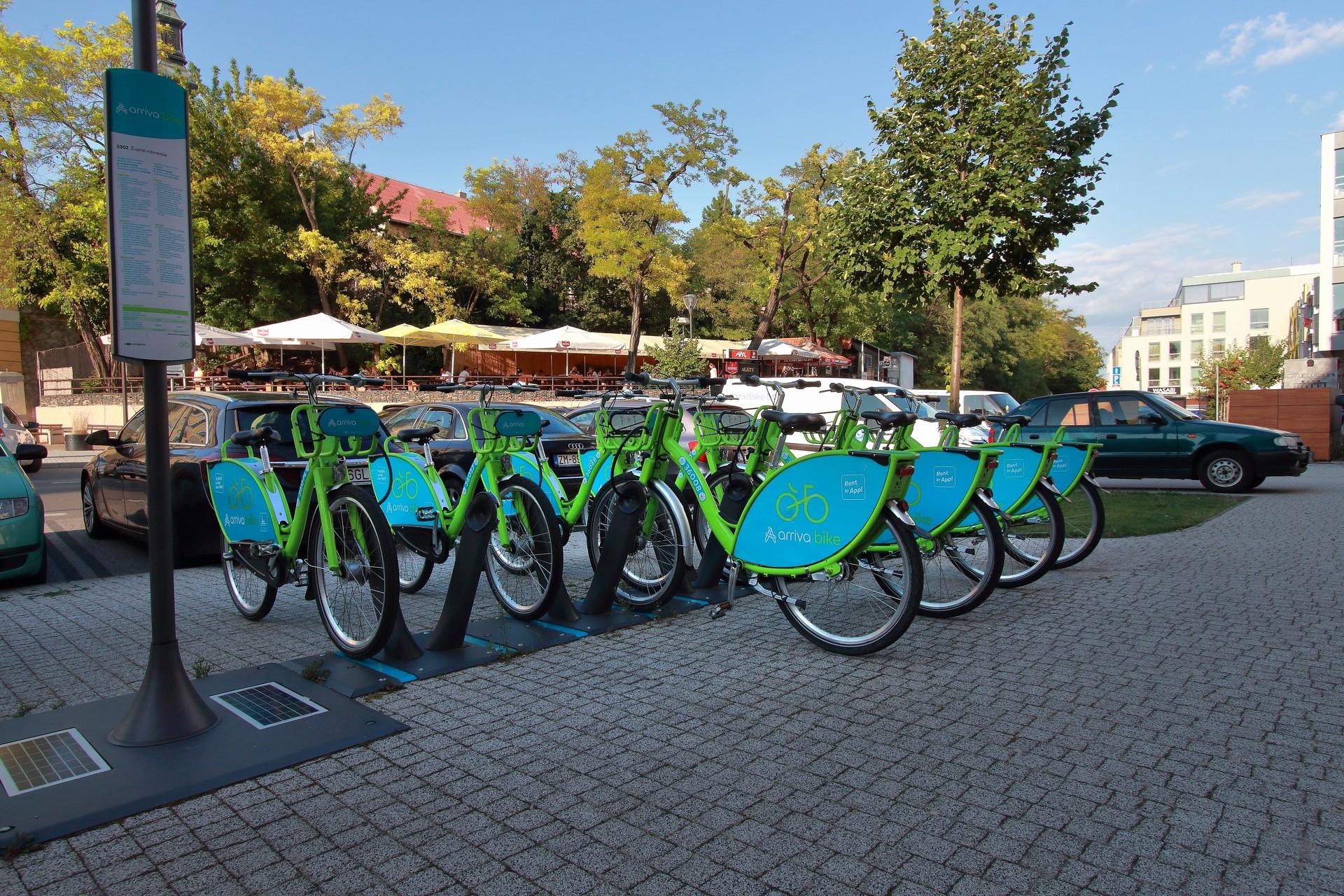 arriva bike stanovište č. 5302 - Župné námestie v Nitre